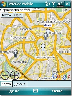 Wi2GeoFriendsOnMap